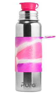 Pura Sport 850 Stainless Steel Bottle - Pink Swirl