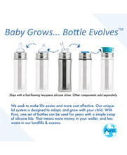 Load image into Gallery viewer, Pura Kiki 325ml Straw Stainless Steel Bottle - Aqua Sleeve