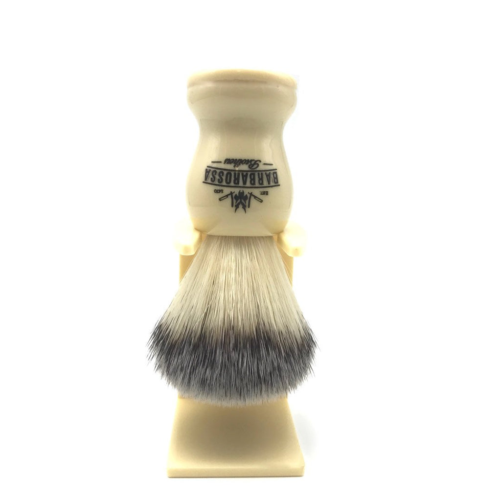 Barbarossa Synthetic Shaving Brush with Matching Drip Stand