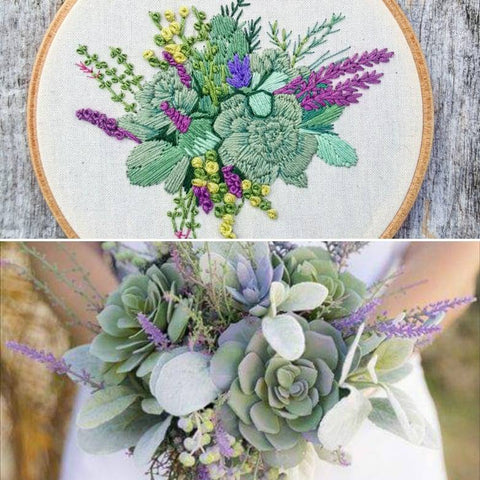 WEDDING BOUQUET EMBROIDERY