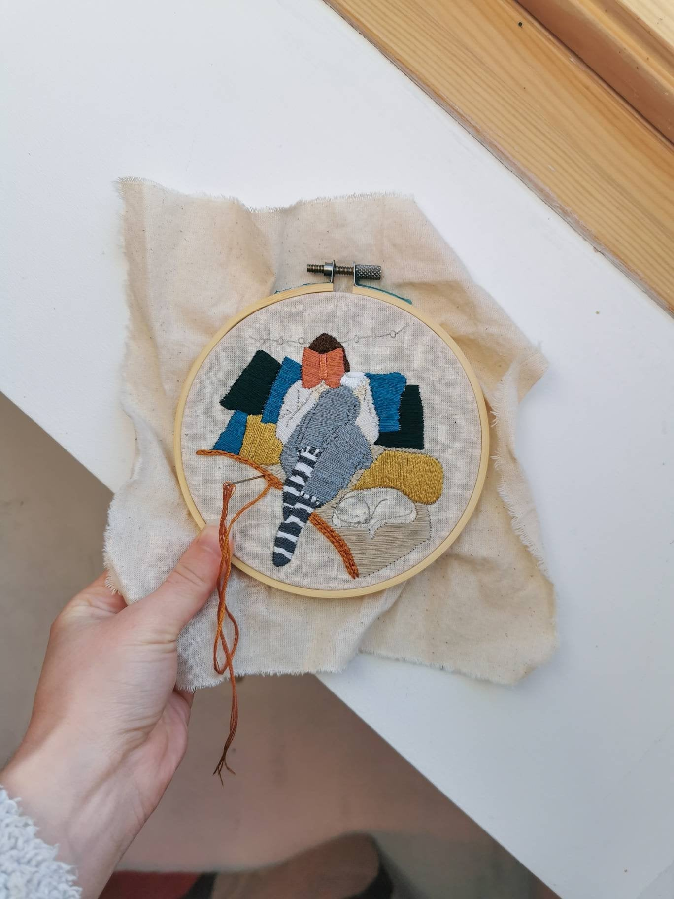Cozy | Embroidery Kit |  Embroidery craft kit | Contemporary Embroidery