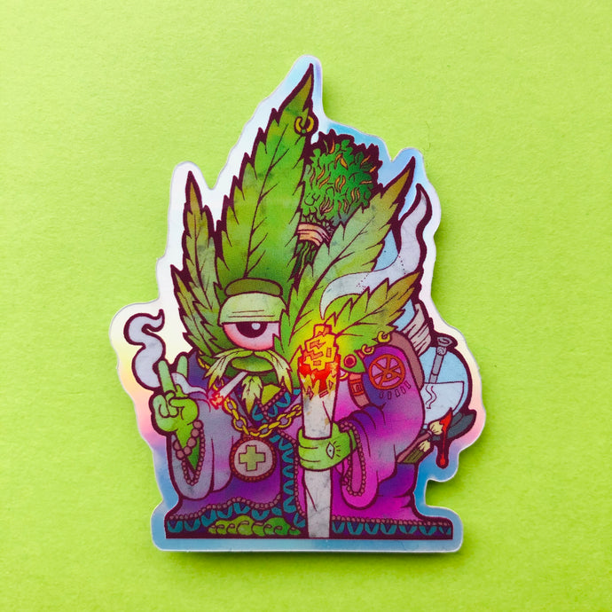 Green Guru Sticker