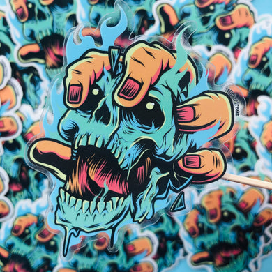 Fire Skull Sticker