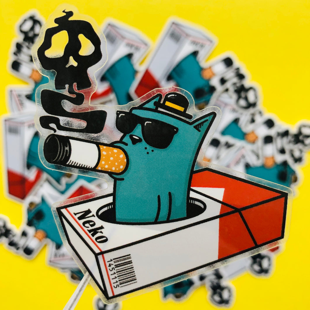 Smoking Neko Sticker