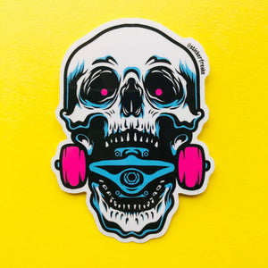 Skate Jaw Sticker