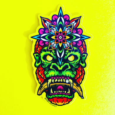 Trippy Gorilla Sticker