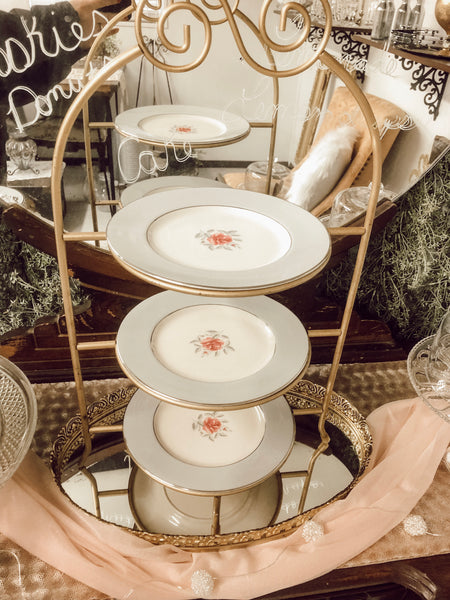 VINTAGE CHINA, DRINKWARE & SERVING PIECES
