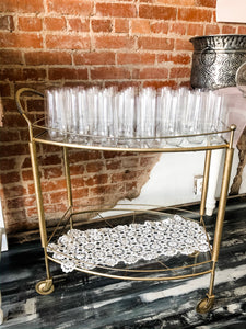 Gold drink cart