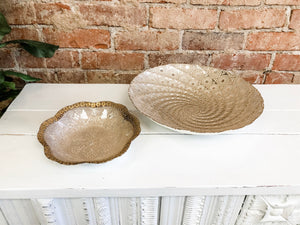 Boho gold decorative bowl