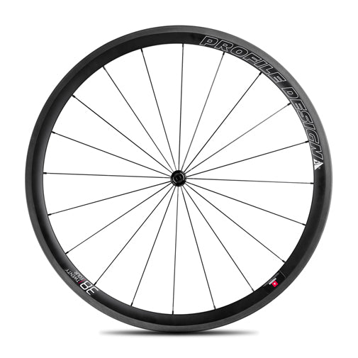 Roue Avant 700C Profile 38/24 Carbon Clincher - PROFILE DESIGN - Pieces de velo/Roues