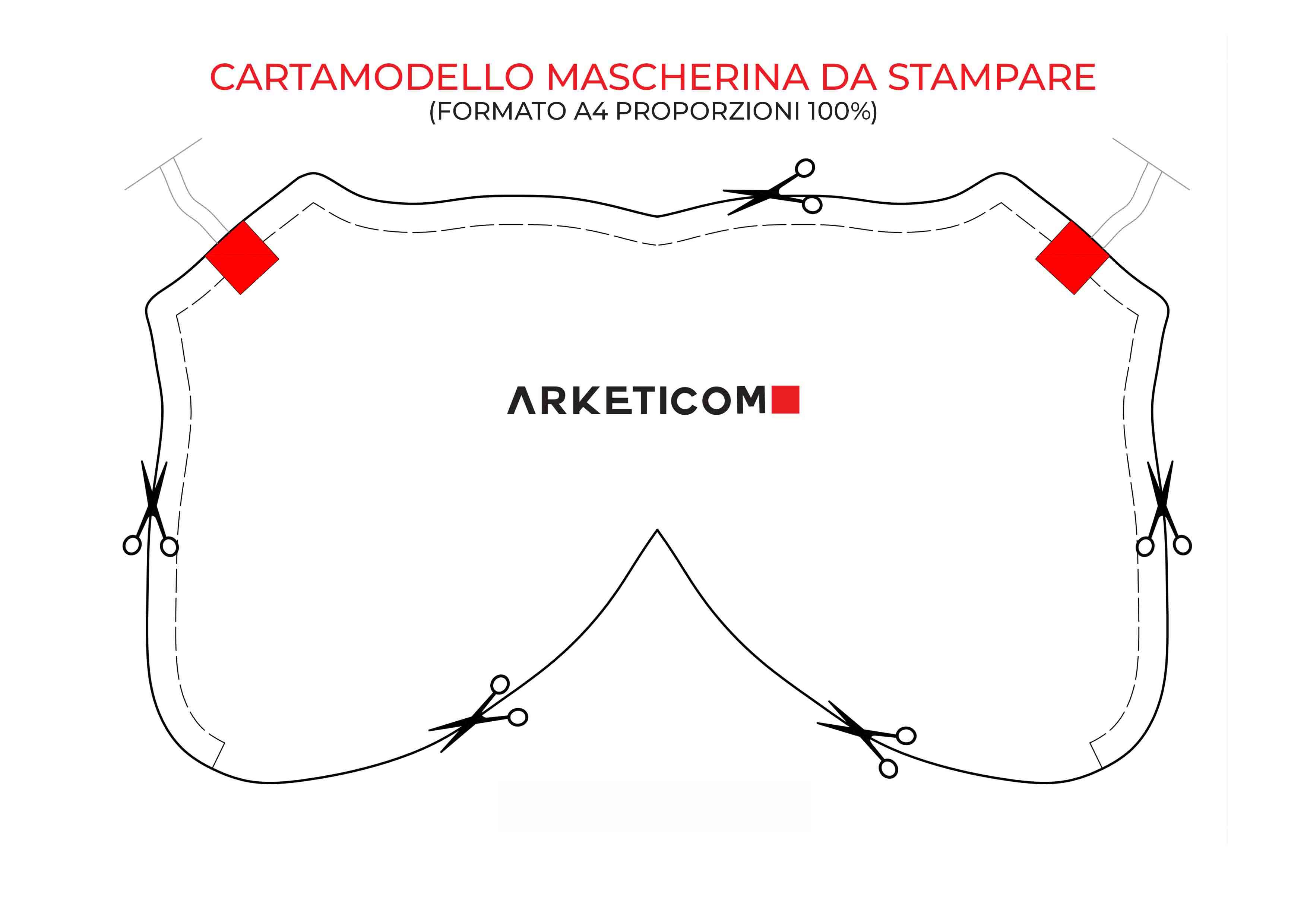 Arketicom Cartamodello mascherina da stampare