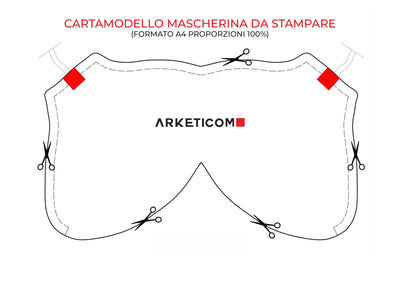 Cartamodello Mascherina Arketicom