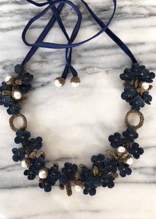 Chenonceau Night Blue Necklace