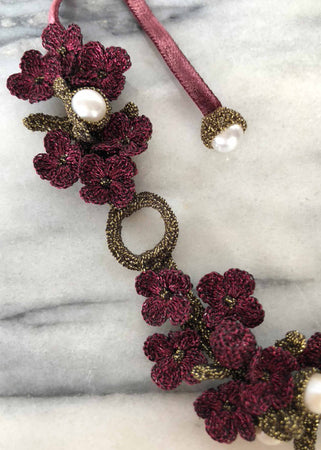 Chenonceau Burgundy Necklace