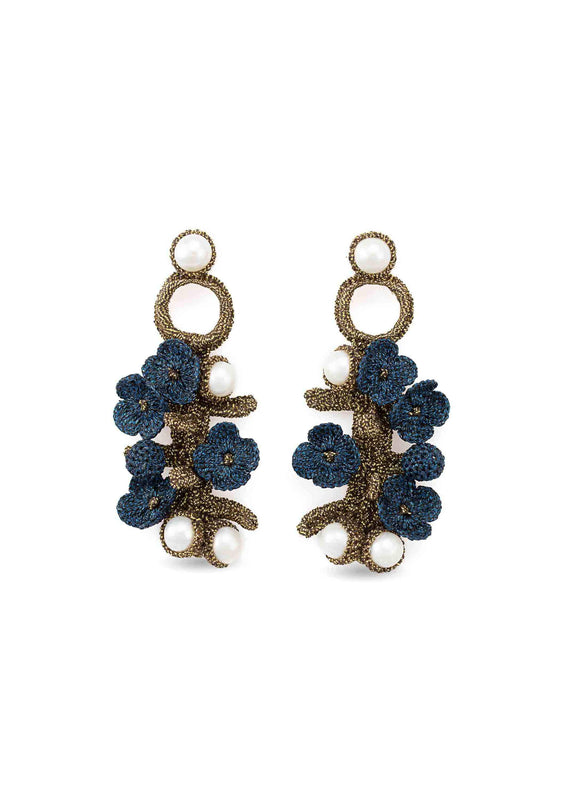 luxembourg earrings blue night atelier godole
