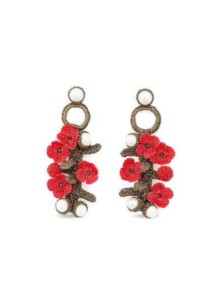 luxembourg earrings coral atelier godole