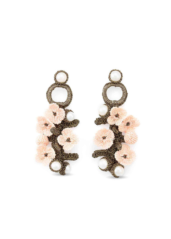 luxembourg earrings pink atelier godole