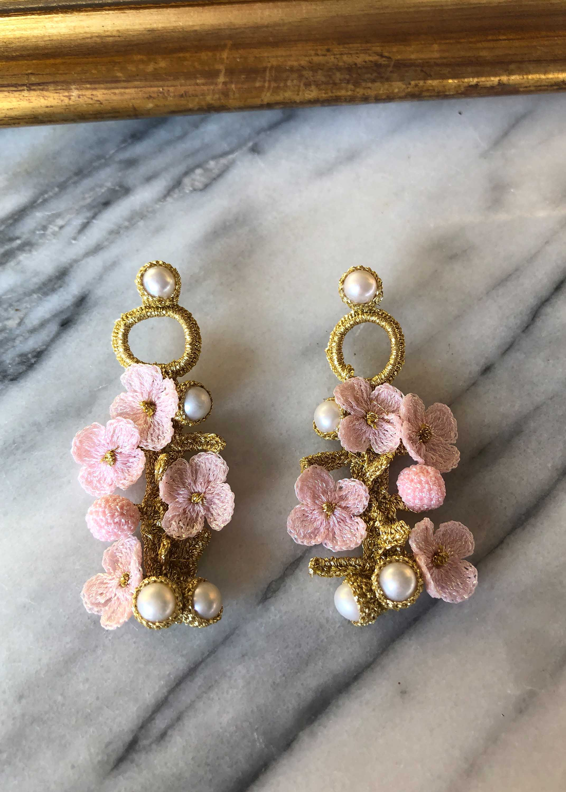 Luxembourg Gold/Pink Earrings