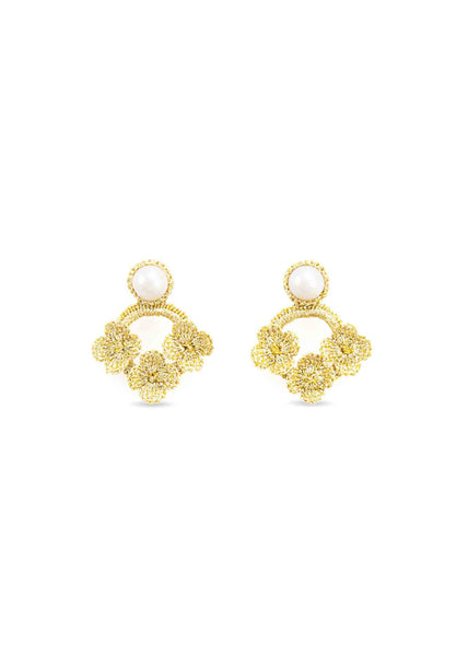 Atelier Godolé azay le rideau earrings gold