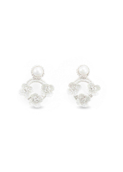 Atelier Godolé silver flowers earrings azay le rideau