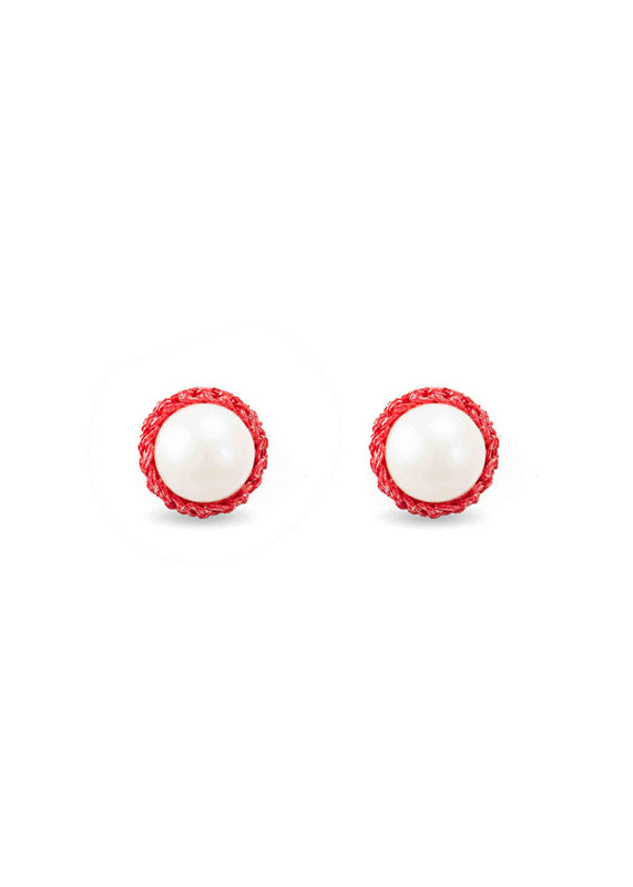 Atelier Godolé pearls earrings coral