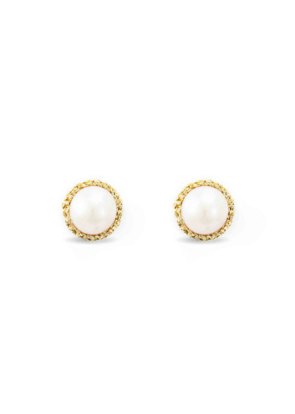 Atelier Godolé pearls earrings gold