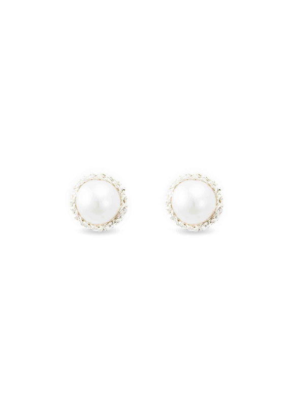 Atelier Godolé pearls earrings silver