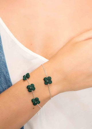 Atelier Godolé one flower bracelet green sterling silver