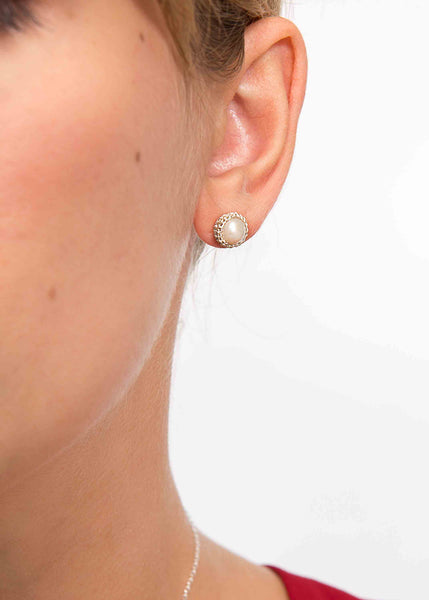 Atelier Godolé pearls earrings silver and silver sterling