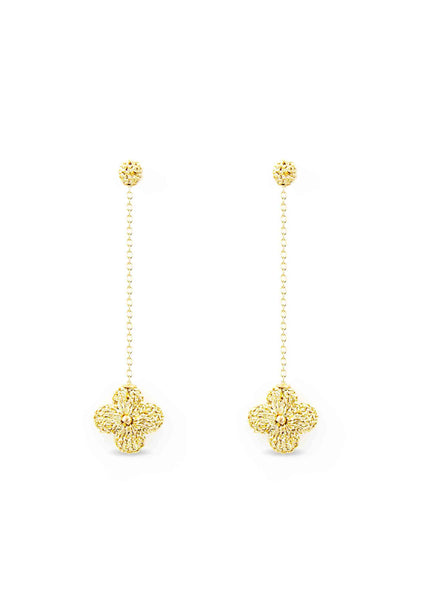 Atelier Godolé earrings flowers gold