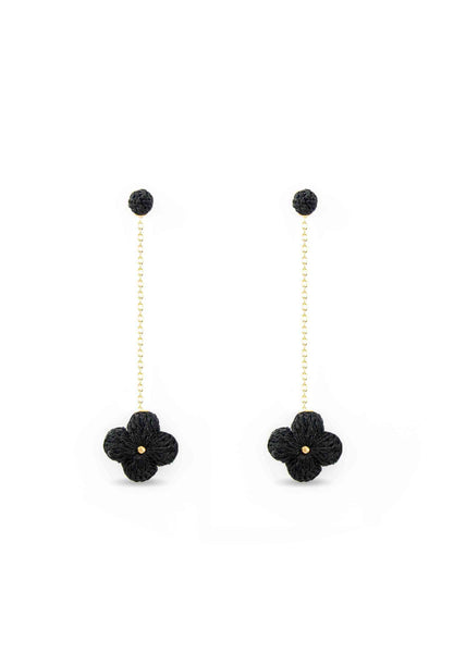Atelier Godolé earrings flowers black