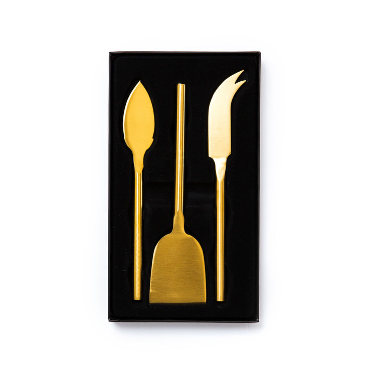 Princier Gold Cheese Knives (3 per set)
