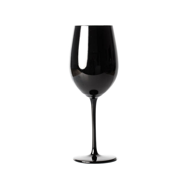 Royale Black Wine Glass (2 per set)