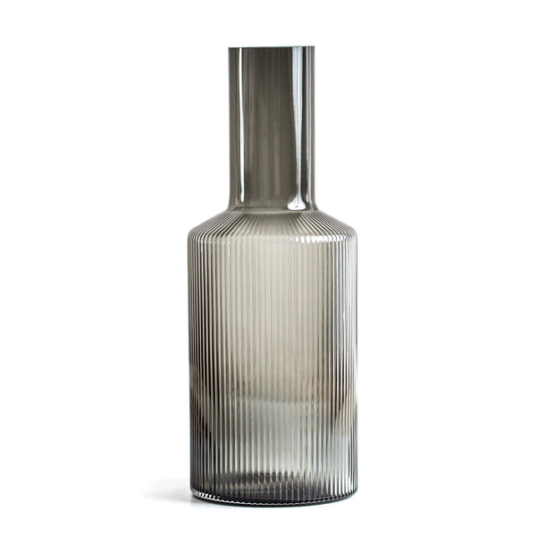 Comte Smoke Ribbed Carafe