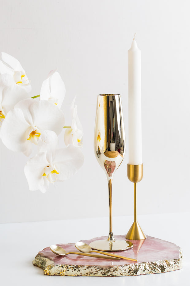 Royale Gold Champagne Glass (2 per set) - OUTLET