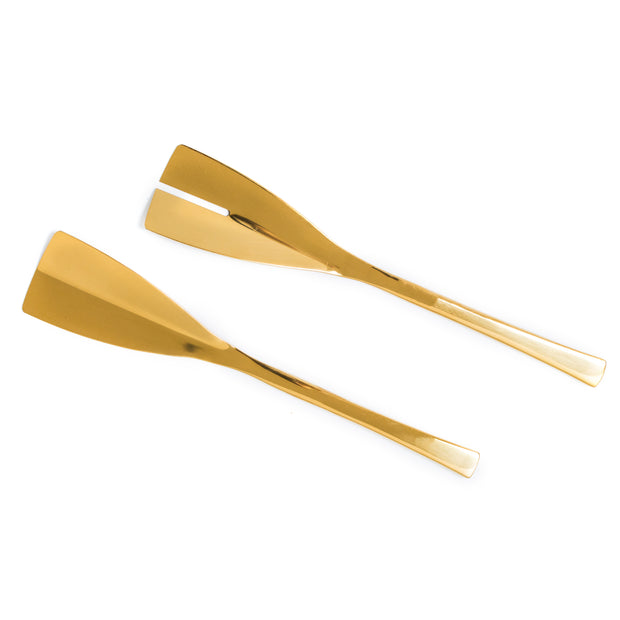 Princier Gold Salad Servers