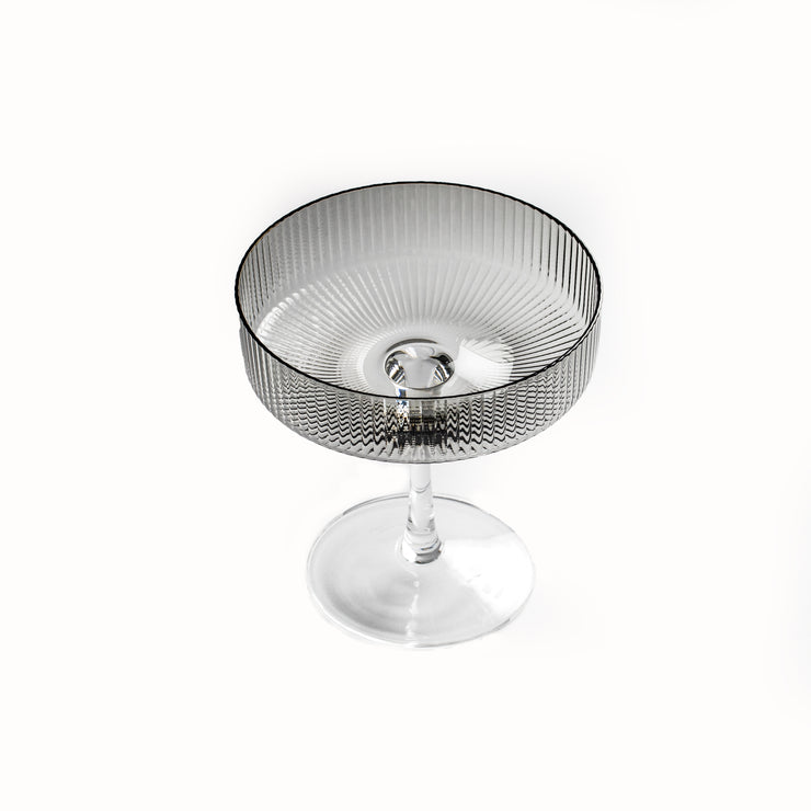 Comte Smoke Ribbed Champagne Glass (2 per set)
