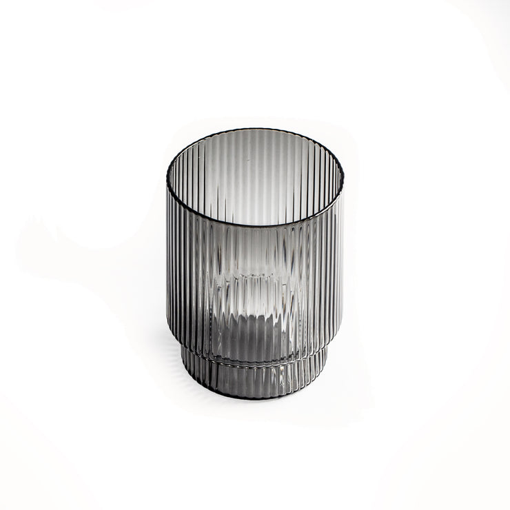 Comte Smoke Ribbed Tumbler (2 per set)