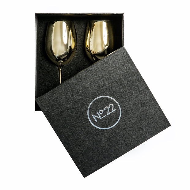 Royale Gold Wine Glass (2 per set)