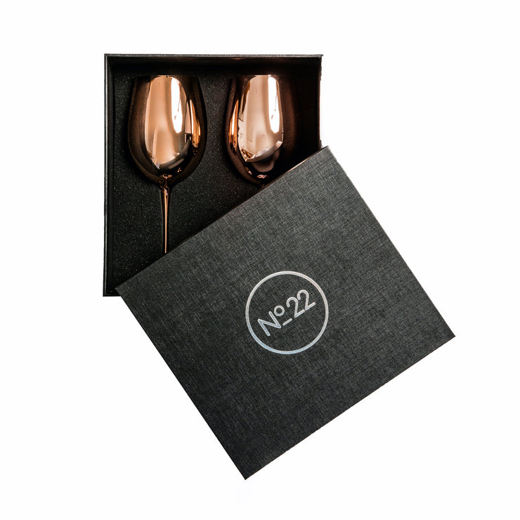 Royale Rose Gold Wine Glass (2 per set)