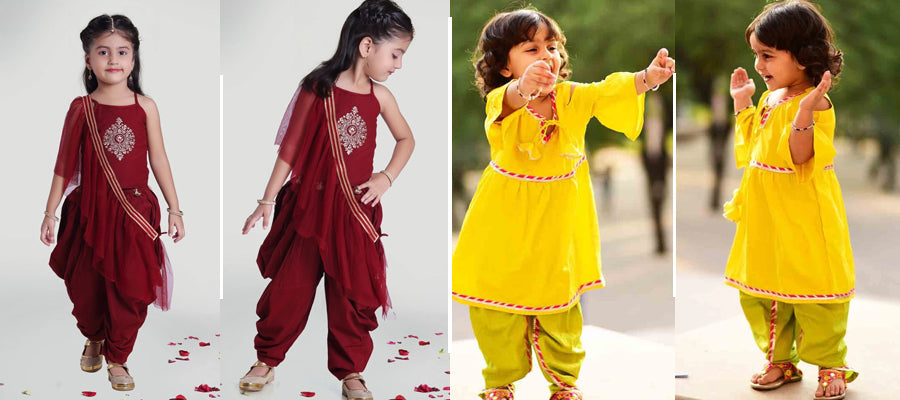 Dhoti style Dress for Girl