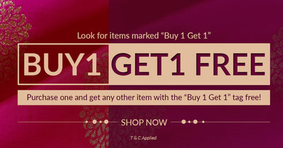 "Buy 1, Get 1 Free, Look for items marked ""Buy1 get1"""