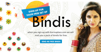 Sign-up for your set of bindis