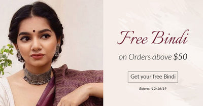 Free Bindi on Orders above $50
