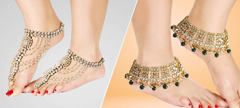 silver anklets indian