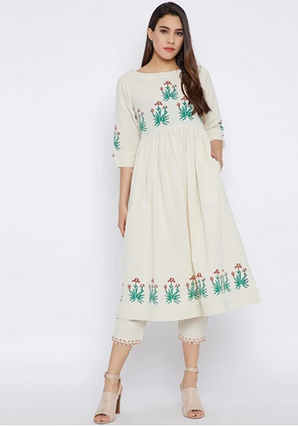 Floral Kurta for Office