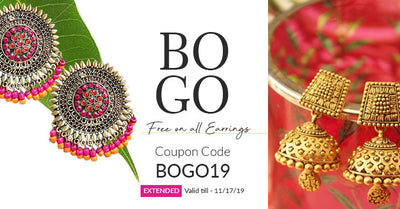 Buy1Get1 Free on Earrings| EXTENDED