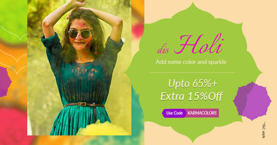 This Holi add color & sparkle with Extra 15% off