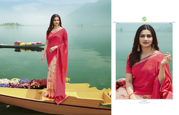 Vinay Fashions Women's Silk Saree in Pink