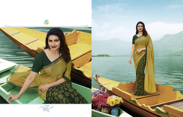 Vinay Fashions Women's Silk Saree in Green